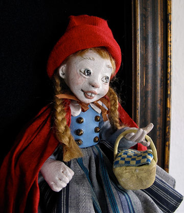 Red Riding Hood Shadowbox by Lucia Friedericy, Friedericy Dolls