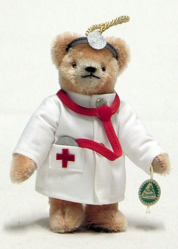 Doctor Of Medicine Teddy Ornament 22296-3
