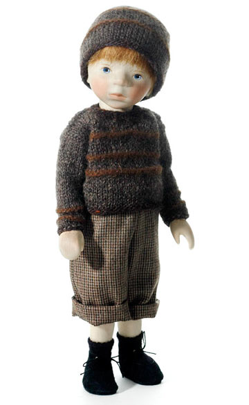 Boy in Gray Knit H342