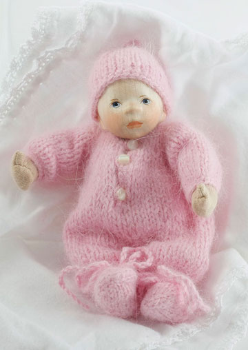 Baby In Pink Angora Knit W003