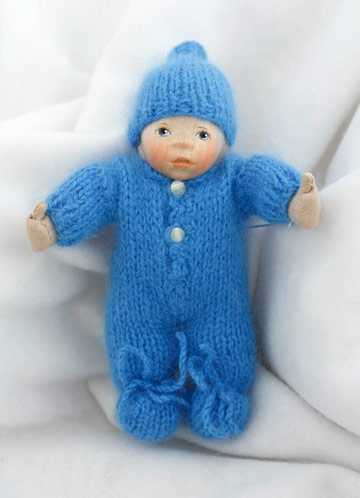 Baby In Blue Angora Knit W014