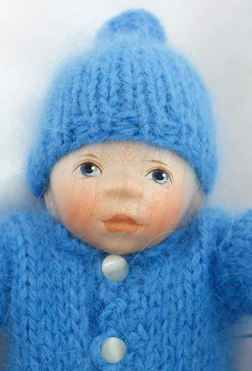 Baby In Blue Angora Knit W014 by Elisabeth Pongratz