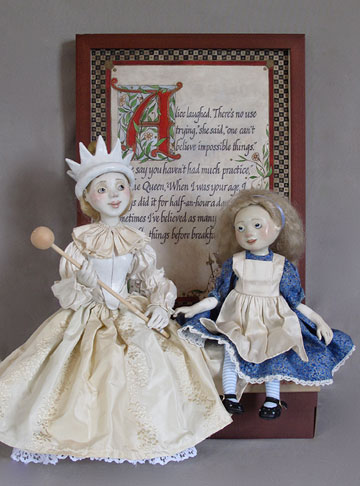 Alice And The White Queen by Lucia Friedericy, Friedericy Dolls