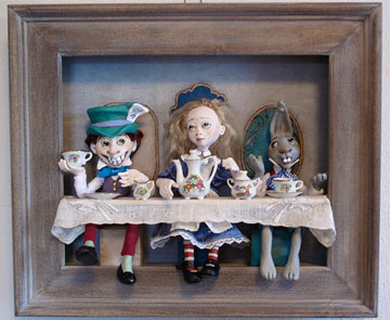 The Tea Party Shadowbox