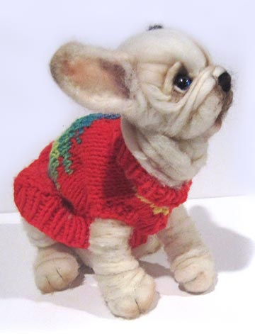 Christmas Sweater French Bulldog by Mikki Klug