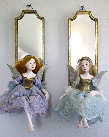 Lavender And Blue Fairy Mirror Set