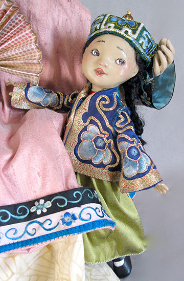 Asian Mother With Child by Lucia Friedericy, Friedericy Dolls