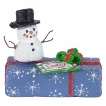 Gift With Snowman A-34