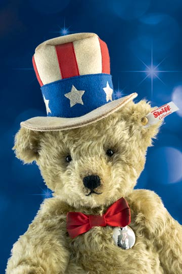 New 2016 Steiff Teddy bear Uncle Sam EAN 683107