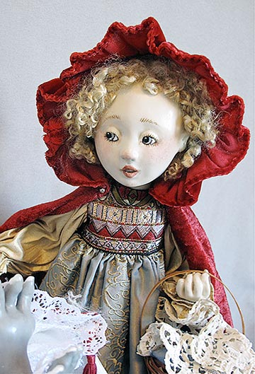 Red Riding Hood And Wolf by Lucia Friedericy, Friedericy Dolls