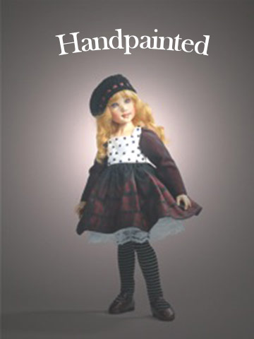 Zoe, Mulberry Plaid BJD Hand-Painted