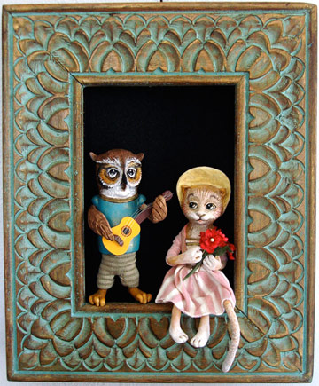 Owl And The Pussycat Shadowbox