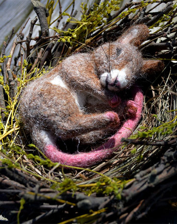 Spring Twig, Gray-Brown Nesting Mouse by Stevi T's Alpaca Encounters