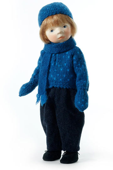 Boy In Blue Knit H207 by Elisabeth Pongratz