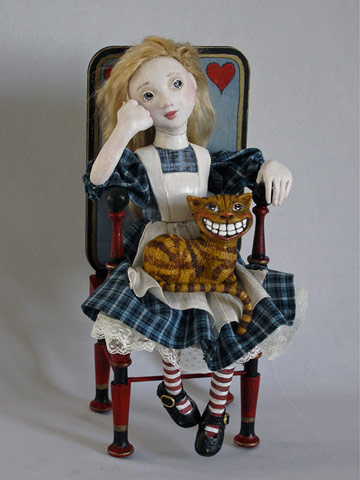 Alice With Cheshire Cat In Chair