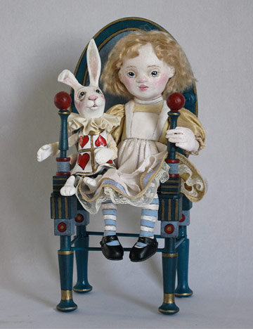 Nursery Alice With White Rabbit In Chair