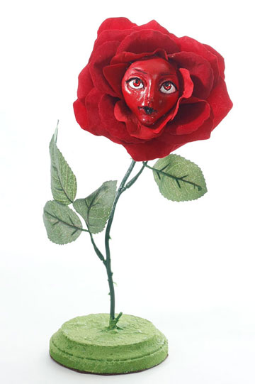 Quirky Red Rose Talking Flower