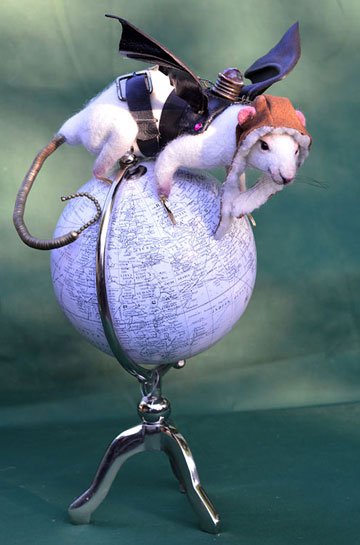 Rats Rule, Steampunk White Lab Rat