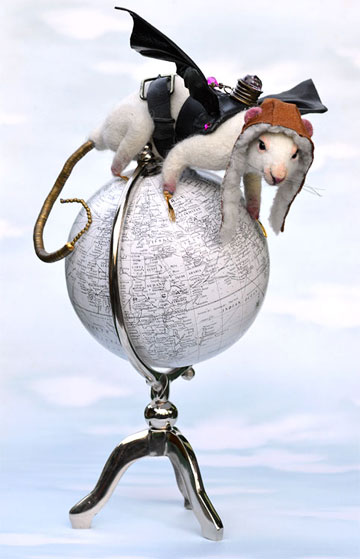 Rats Rule, Steampunk White Lab Rat by Stevi T's Alpaca Encounters