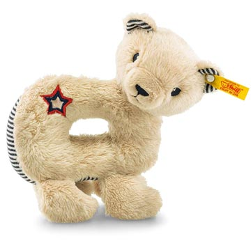 Teddy Bear Band Niklie Bear Grip Toy With Squeaker EAN 241178