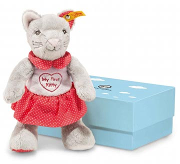 My First Steiff Cat In Rustling Foil In Gift Box EAN 241031