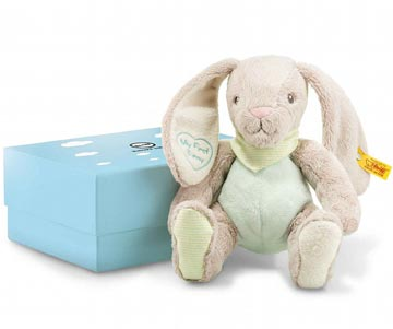My First Steiff Rabbit With Rustling Foil In Gift Box EAN 241154