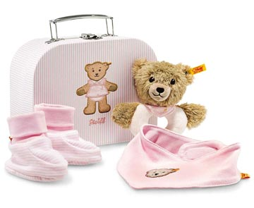 Sleep Well Bear Grip Toy With Rattle Gift Set Pink EAN 240546