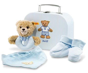 Sleep Well Bear Grip Toy With Rattle Gift Set Blue EAN 240553