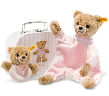 Sleep Well Bear Comforter & Grip Toy With Rattle Set EAN 240997