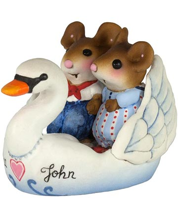 Swan Boat Sweethearts Personalized M-475