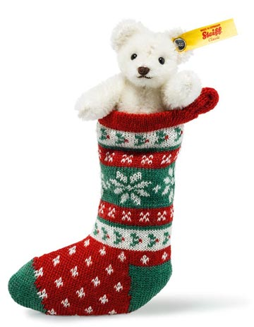 White Mini Teddy In Sock EAN 026768