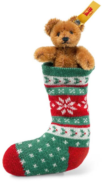 Russet Mini Teddy In Sock EAN 026775
