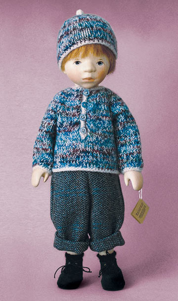 Boy In Blue Variegated Knit Sweater H354