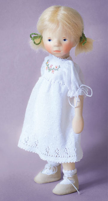 Blond Girl in White Knit DJ111