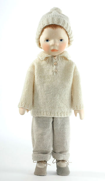 Boy With Painted Hair In Cream Knit H349