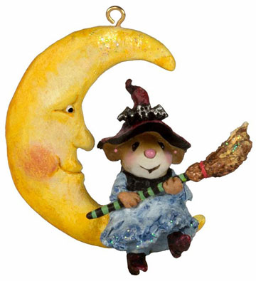Broom To The Moon! Ornament M-623a by Wee Forest Folk