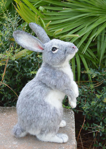 Lifesize Gray Rabbit