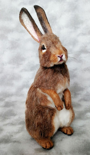 Lifesize Eastern Cottontail Rabbit