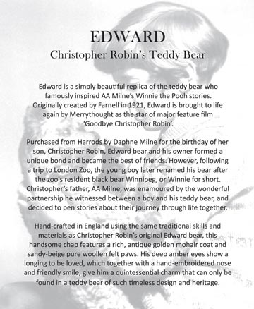 Edward, Christopher Robin's Teddy Bear by Merrythought