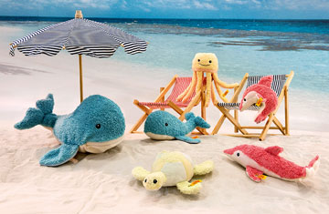 Sea Sweeties Dala Dolphin With Rustling Foil And Squeaker EAN 24 by Steiff