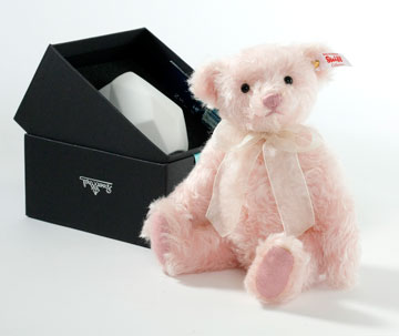 Rose Teddy Bear With Vase EAN 006760 by Steiff