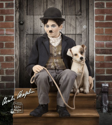 Charlie Chaplin And Scraps Set, A Dog's Life