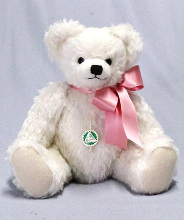 Timeless Classic Teddy, White Mohair Large 10823-6