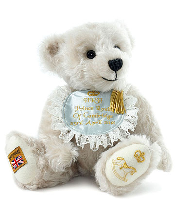 Louis Arthur Charles, Royal Baby Commemorative Teddy by Merrythought
