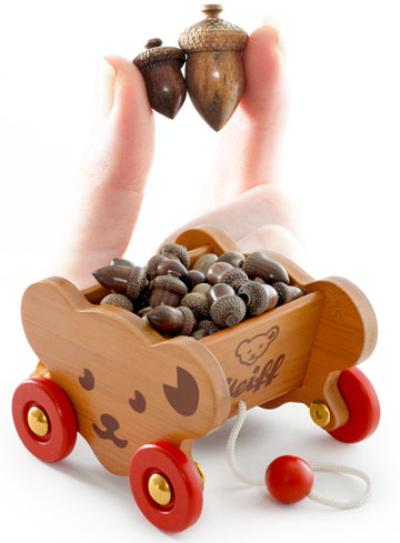 Wood Hand-Crafted Acorns, Pack Of 10 by Steiff