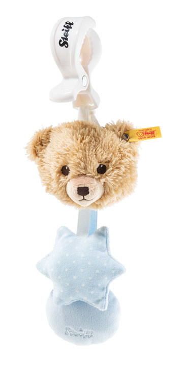 Stroller Toy With Rattle, Blue Sleep Well Bear 240959