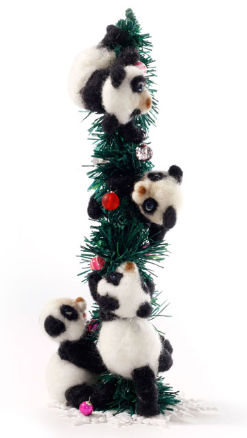 Beary Merry Christmas Panda Cubs