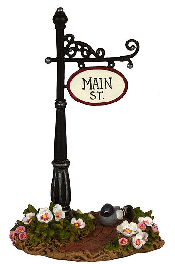 Main St Sign Post A-49