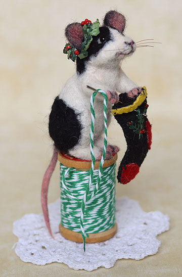 Stocking Stitch Mouse by Stevi T's Alpaca Encounters
