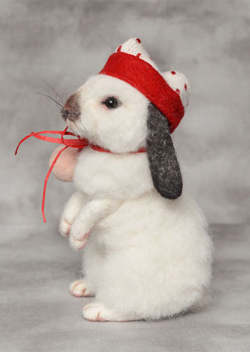 Winter Lop-Eared Bunny